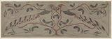 Pheasants; preliminary study for a wall covering.