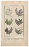 Journal des Dames et des Modes, Costumes Parisiens, 5 décembre 1818. 1. Bonnet de Muslin brodé (…).