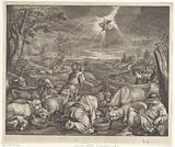 Abraham leaves for Shechem / Annunciation to the shepherds