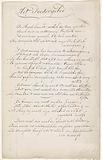 Three Verses Sheet on Powdering Wigs, 1806