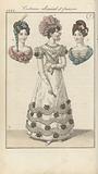 Journal des Dames et des Modes, edition Frankfurt 10 février 1822, Costumes allemand et françois (7)