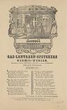 Fairground print of the gas lantern plugs of Amsterdam for the year 1847