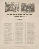 Funfair print of the Amsterdam courtesy makers for the year 1865