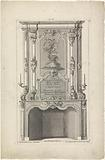 Design for a chimney with Diana as goddess of the hunt