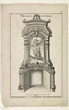 Design for a chimney with a mythological hero