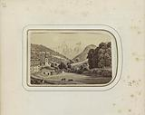 Photo reproduction of a print of a view of the village of Ramsau bei Berchtesgaden