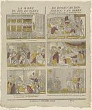 La mort / Du Duc de Berry. / Assassiné à Paris le 13 Février 1820 / The death of pine / Duke of Berry..