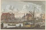 Harlingen harbor gate, c 1790