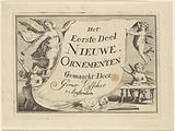 Fame and various putti show a sheet with title