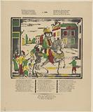 Saint Nicholas sitting on horseback, / Let all good children know ((…))