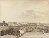 View of Villa Capizucchi in Rome, with the Porta Pia at the left