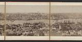 View of city districts of Istanbul and the banks of the Golden Horn