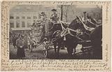 The golden carriage of the wedding procession of Wilhelmina, Queen of the Netherlands, and Hendrik van …