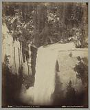 Edge of the Vernal waterfall in Yosemite National Park