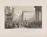 Reminder of The Return of the King of The Hague, from the flooded places, the 9th of February 1861