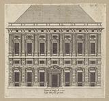 Uprising of the facade of the Palazzo Carrega-Cataldi in Genoa