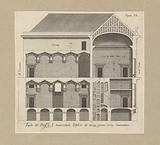 Longitudinal section of the Palazzo Rostan Raggio in Genoa