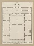 Floor plan of the first floor of the Palazzo Lercari-Parodi in Genoa