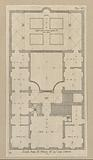 Floor plan of the first floor of the Palazzo Podestà in Genoa
