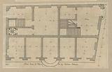 Ground floor plan of the Palazzo Cipriano Pallavicino in Genoa