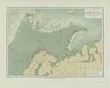 Map of the Arctic Ocean with itinerary of the Willem Barents Kommandant A de Bruyne 1878