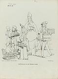 Cartoon with Thorbecke as Sinterklaas, 1862