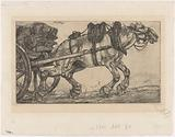 Draft horse for a cart