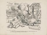 Cartoon on the election of Mr De Casembroot as Member of Parliament, 1866