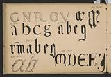 Calligraphy: fonts from the twelfth to the eighteenth century.
