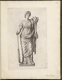 Statue of goddess with cornucopia