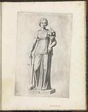 Statue of a woman with a cornucopia