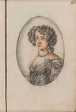 Woman portrait in an oval