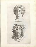Two busts of Medusa