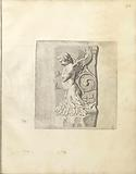 Bas-relief with a putto partly consisting of foliage