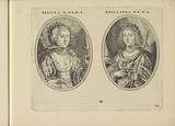 Portraits of an unknown woman and Anna Maria van Schurman, both as shepherdess