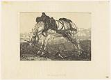 Resting plow horse