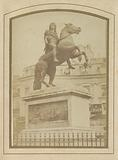 Equestrian statue of King Louis XIV on the Place des Victoires in Paris