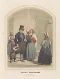 Costumes from the island of Marken in North Holland, 1857