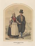 Traditional costumes from the island of Marken in North Holland, 1857