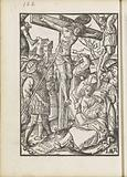 Pierced Christ on the cross with a lance