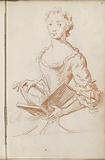 Standing woman with book