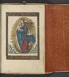 Mary as the Queen of Heaven standing on the crescent moon