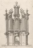 Church organ with three towers