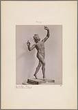 Sculpture of a dancing faun from Pompeii