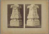 Two views of the pedestal of a candelabrum from the San Lorenzo in Florence