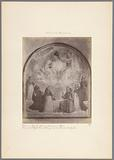 Photo reproduction of a fresco in the former San Marco monastery in Florence by Fra Angelico, depicting the coronation …