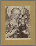 Photo reproduction of a painting by Fra Angelico, depicting Mary with Child