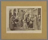 Photo reproduction of a painting by Fra Angelico, depicting the preaching of Saint Peter