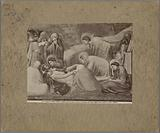 Photo reproduction of a painting by Giotto, depicting the Lamentation of Christ
