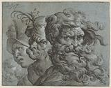 Four Character Heads of Boys and Men of Different Ages